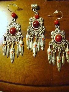 Red Chippewa jewelry set. $23.99