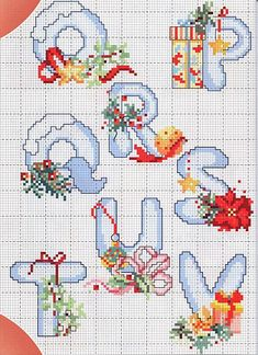 Cross stitch Christmas alphabet (3)
