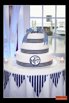 Boston Wedding Photography, Wedding Cakes Boston, Nautical Wedding Cake