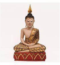 Figura Buda sentado pan de oro 75cm