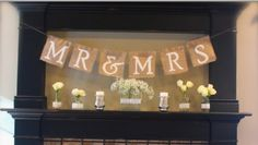 Burlap Wedding Banner