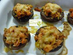 Champiñones rellenos. http://www.lospostresdeelena.com/2013/09/champinones-rellenos.html