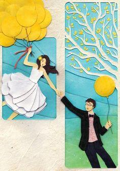 Couple cartoon via www.Facebook.com/GleamOfDreams