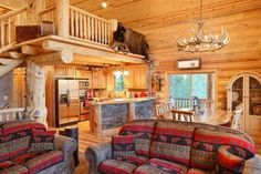 Log Home Interior design and Log home interiors photos. View a variety of possibilities for log home interior designs to plan your next log home. Contact Yellowstone Log Homes today. Log Cabin Floor Plans, House Floor Plans, Cabin Interior Design, Design Homes, Interior Designing, Log Home Interiors, Log Cabin Designs, Log Home Decorating, Log Cabin Homes