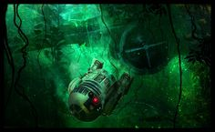 Perfectly safe for droids /by ornicar #deviantart #StarWars #digital #painting