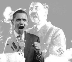 """If you're one of those people who believes comparing Obama to Hitler is """"spreading hate"""", please compare the two men's records and actions >> Hitler vowed to unite Germany - was loved unconditionally by his base - promised them massive entitlements - took over auto industry and healthcare - censored media - used unions to gain power - supported strict gun control - wanted large centralized government - had children sing him praises - had his own symbol - Sound familiar? We should be VERY…"""
