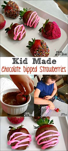 Kid Made Chocolate Dipped Strawberries - These yummy treats are so easy to make even a child can do it! #QuickerPickerUpper #ad