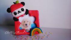 Pandapple Picture Frame Polymer Clay Tutorial Miniature ✿Mini Portafotos de Arcilla Polimérica✿