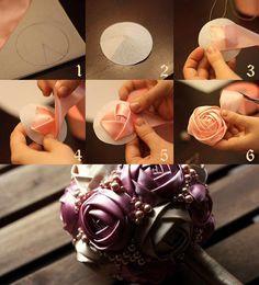 Rose ball DIY! I'm using pj's (material) & fingernail polish on beans for ceiling fan pull string & curtain tiebacks.