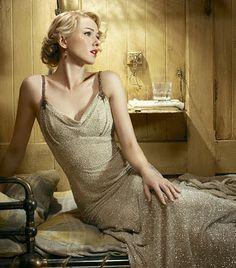 Naomi Watts' 30's  gold dress in King Kong.
