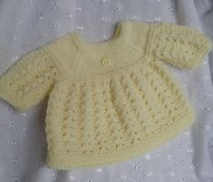 Baby Knitting Patterns Jacket Linmary Knits: Alice Matinee jacket, dress, bonnet and booties Baby Cardigan Knitting Pattern Free, Baby Boy Knitting Patterns, Knitted Doll Patterns, Baby Sweater Patterns, Knitted Dolls, Baby Patterns, Free Knitting, Knitted Baby, Knitting Stitches