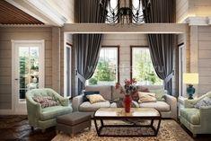 Дизайн интерьеров дома по проекту JAAKKO 187 Cottage, Curtains, Interior Design, Home Decor, Insulated Curtains, Design Interiors, Homemade Home Decor, Casa De Campo, Blinds