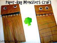 Paper Bag Monters! Perfect craft for a rainy day :)