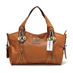 Coach In Embossed Medium Brown Totes DFZ Give You The Best feeling!