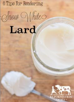 Rendering lard doesn't have to be tricky! Here are 6 tricks I use to get snow white lard. | www.reformationacres.com