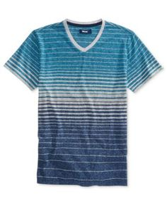 Univibe Striped V-Neck T-Shirt, Big Boys (8-20) $9.99 A fun variety of stripes add cool color to this casual V-neck T-shirt for him from Univibe.