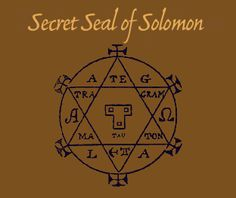 Seal of Solomon. In Medieval Jewish, Christian and Islamic legends, the Seal of Solomon was a magical signet ring said to have been possessed by King Solomon, which variously gave him the power to command demons, genies, or to speak with animals.