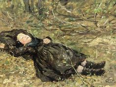 A Little Girl Resting In The Woods
