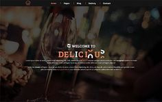 Delicious – Restaurant & Cafe theme. Bootstrap Themes. $11.00