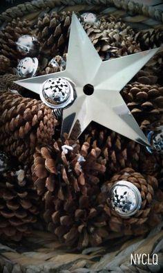 Lighted Pinecone Basket w/Jingle Bells?