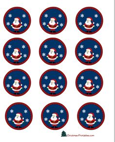 christmas-cup-cake-toppers-1.png (612×756)