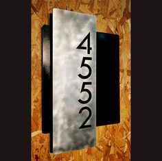 Custom Modern Layered Floating House Numbers Vertical Offset in Aluminum The Modern and Sleek house number sign made from aluminum. Metal Wall Sculpture, Wall Sculptures, Mirror Room Divider, Exterior Signage, Address Plaque, Address Signs, Floating House, Home Decor Signs, House Numbers