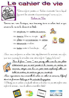 Page explicative cahier de vie Petite Section, Journal Organization, French Education, Cursive, Toddler Activities, Communication, Homeschool, Montessori, Bullet Journal
