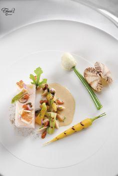 Blanc de bar de ligne poché au lait de feuilles de figuier. Recette de Rémy Carmignani. Thuriès Gastronomie Magazine n°282 de Septembre 2016.