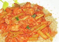 Temesvári csirke (zöldbabos csirkepaprikás) párolt quinoával - Thai Red Curry, Quinoa, Ale, Ethnic Recipes, Food, Red Peppers, Ale Beer, Essen, Meals