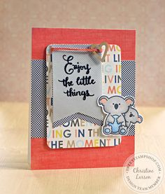 Sweet Stamp Shop - Enjoy Calligraphy & Koala Card by Chrissy Larson, DT Set available in Australia from www.dawnlewis.com.au #sweetstampshop #fairytalestamps