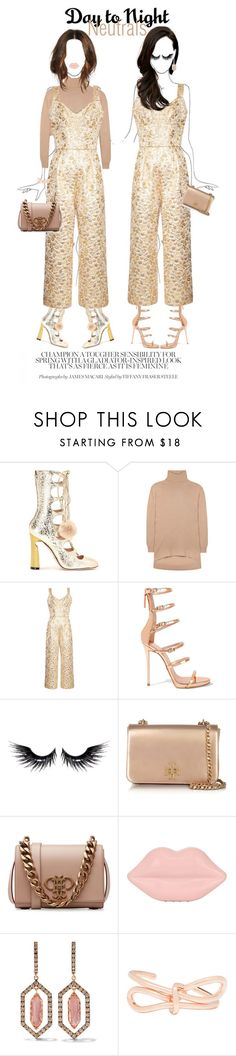 """""""day to night: dolce and gabbana brocade jumpsit"""" by esterp ❤ liked on Polyvore featuring Gucci, Balenciaga, Dolce&Gabbana, Giuseppe Zanotti, MAKE UP FOR EVER, Tory Burch, Emilio Pucci, Lulu Guinness and Larkspur & Hawk"""