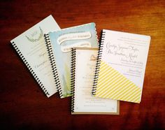 Bound keepsake wedding ceremony scripts, included in every package.