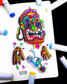 Doddle Art, Copic Art, Colorful Drawings, Funny Memes, Cartoon, Wallpaper, Anime, Poster, Inspiration