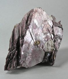 "Lepidolite - extremely thick ""book"" of hundreds of thin layers of pretty lavender-colored mica variety / Minas Gerais, Brazil / Mineral Friends <3"