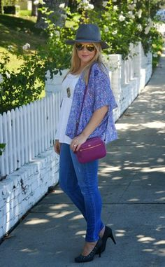 Boho Kimono        Even though it is still warm outside on the West Coast, I have been finding ways to incorporate some of my fall finds into my daily outfits. One closet update that I am actually able to wear is my new DVF berry-colored crossbody bag from Marshalls.   Reds of all hues are super on-trend for the upcoming fall season. The berry hue of this crossbody makes a great transitional color from summer to fall, and it will be a bold statement piece for the cooler months ahead.   DVF…