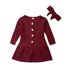 Get ready for the spring season with this cute outfit perfect for your little ones. Dance Outfits, Girl Outfits, Cute Outfits, Valentines Outfits, Heart Day, Red Fashion, Knit Dress, Hearts, Long Sleeve
