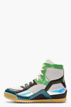 Maison Margiela for Men Collection Retro Sneakers, Classic Sneakers, High Top Sneakers, High End Mens Shoes, Men's Shoes, Shoes Sneakers, Sneaker Games, Men's Footwear, Leather High Tops