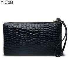 12.11$  Watch here - http://vierw.justgood.pw/vig/item.php?t=4gy5mc74916 - Handbags New Fashion Casual Women Bags Crocodile PU Leather Ladies Clutch Girls