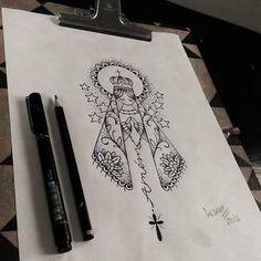tatuagens de nossa senhora aparecida tribal - Pesquisa Google