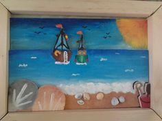 3D schilderij beach :-)
