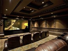 The theater, 5 star movies only. Royal treatment in our theater.