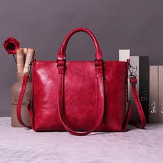 Women PU Leather Retro Handbags Large Capacity Shoulder Bags Tote Bags is designer, see other popular bags on NewChic. Vintage Leather, Real Leather, Leather Bag, Leather Totes, Prada Handbags, Tote Handbags, Tote Bags, Peep Toe Ankle Boots, Handbag Patterns