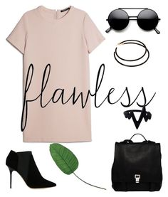"""""""Ferpecta."""" by schenonek ❤ liked on Polyvore featuring MANGO, L. Erickson, Jimmy Choo, Laura Cole and Proenza Schouler"""