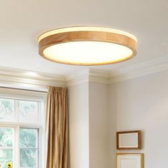 Scandinavian Wooden Round LED Flush Mount | Chandelieria, LED Flush Mount, Dimmable LED Lights, Ceiling Lighting Modern Chandelier, Modern Decor, Adjustable Lighting, Dimmable Led Lights, Dimmable Led, Living Room Lighting, Round Chandelier, Vintage Lighting, Ceiling Lights