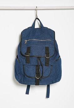 Drawstring Denim Backpack | Forever 21 - 1000114193