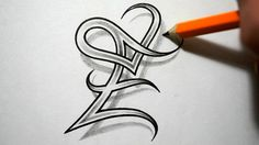 tattoo e with heart - Google zoeken