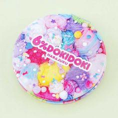 6%DOKIDOKI Colorful Rebellion Compact Mirror - Pastel - Blippo Kawaii Shop Harajuku, Convex Mirror, Magnifying Mirror, Kawaii Accessories, Kawaii Shop, Welcome Gifts, Japanese Beauty, Compact Mirror, Bottle Holders