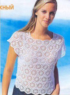 Crochetpedia: Crochet Tshirt Blouse Patterns 2