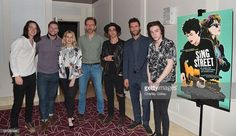 Actors Ferdia Walsh-Peelo, Jack Reynor and Lucy Boynton, director John Carney, musicians Hudson Thames and Adam Levine, and actor Mark McKenna attend a special screening of 'Sing Street' hosted by The Weinstein Company and Adam Levine at The London Hotel on April 14, 2016 in West Hollywood, California.