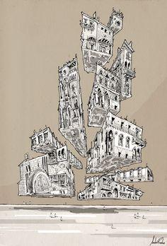 Gothic Gravitation _ Andre Rocha Illustration